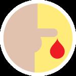 Presença de  sangue na urina